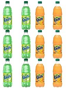 LUV BOX - Variety Fanta pack 20oz Pack Of 12 Bottles Green Apple , Mango