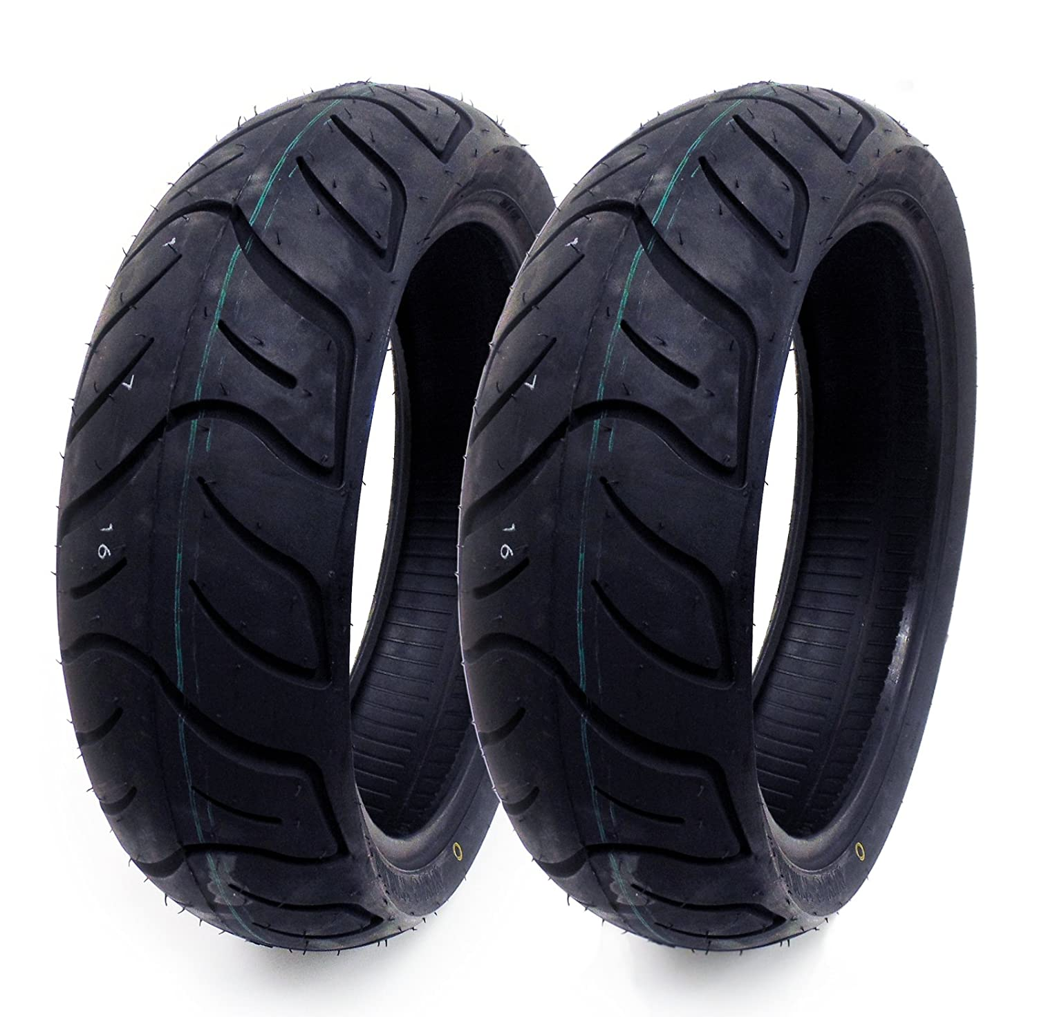 SET OF TWO: Tire 130/60-13 Tubeless Front/Rear Motorcycle Scooter Moped MMG