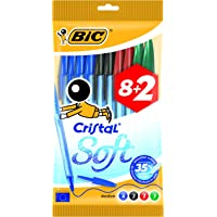 BIC Cristal Soft bolígrafos punta media (1,2 mm)