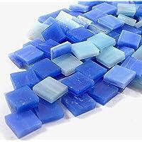 Sai Mosaic Art Stain Glass Mosaic Pcs, Blue Assortment 10x10mm, 100Gm Pack, 145-150 Pcs