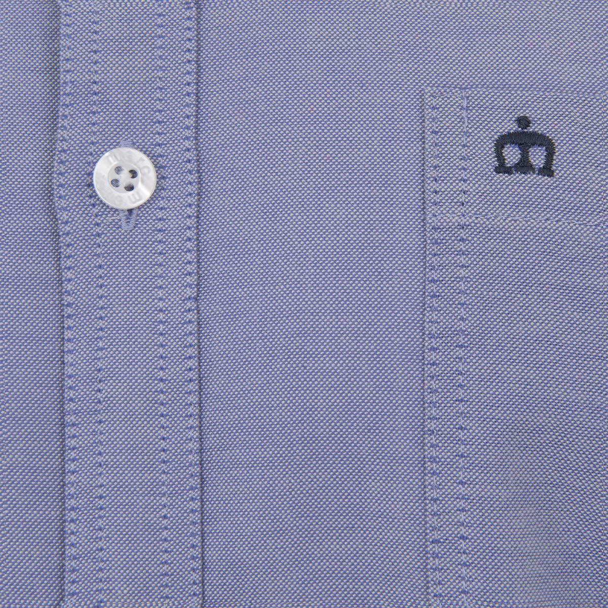 Merc Camisa Oval para Hombre Azul Oxford de Manga Larga