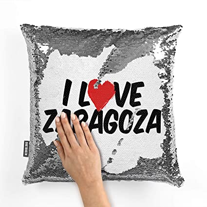 Amazon.com: NEONBLOND Mermaid Pillow Cover I Love Zaragoza ...