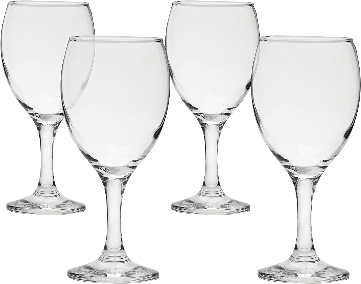 Circleware Vine Wine Glasses, Set of 4, 11 oz, Clear