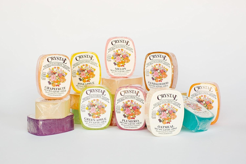 Crystal Glycerine Soap Bars 24 Fragrances