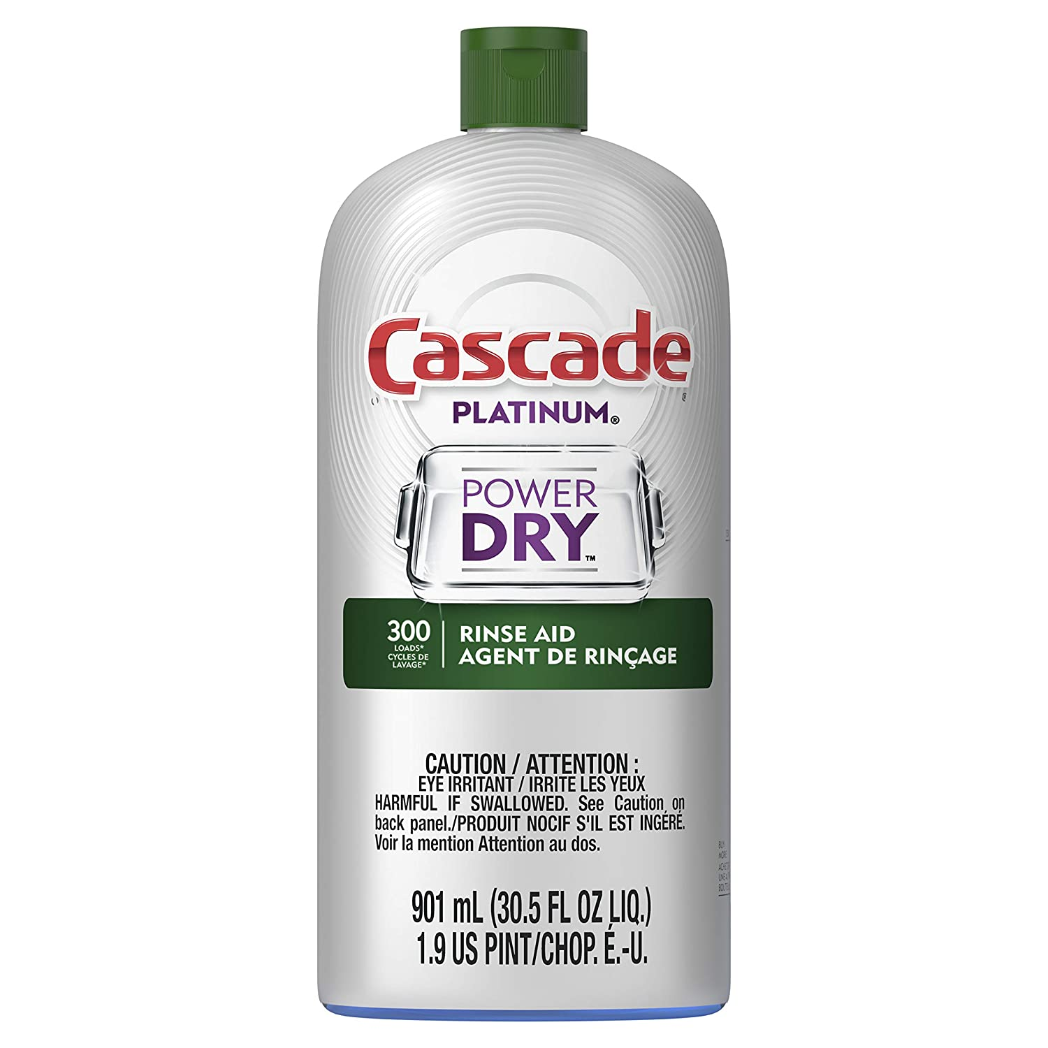 Cascade Platinum Rinse Aid, 901 mL (Packaging May Vary)