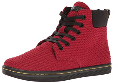 Dr. Martens Women's Maelly Wc Ankle Bootie, Dark Red+Black, 3 UK