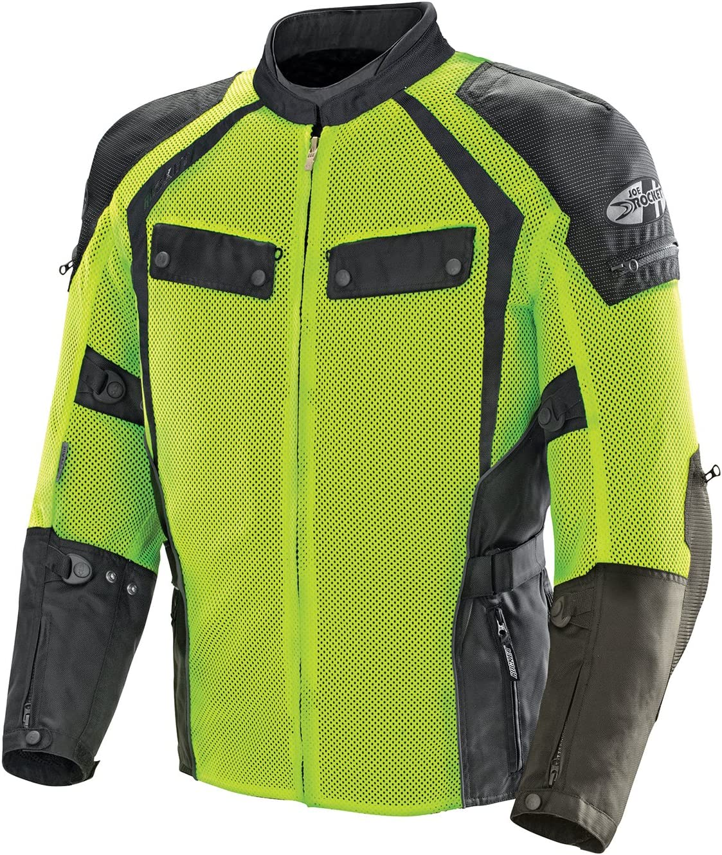 Joe Rocket Men's Phoenix Ion Summit Mesh Motorcycle Jacket (Black/Hi-Viz, XX-Large)
