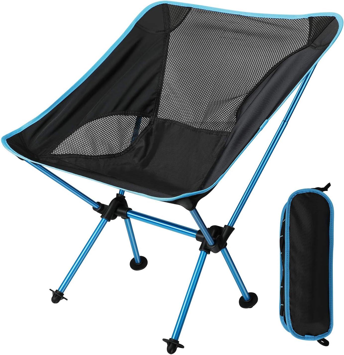 EXTSUD Silla Plegable Camping Silla Portátil al Aire Libre con Bolsa de Transporte, Capacidad de Carga Maxima 150 kg, Ideal para Jardín, Playa, Pesca, Camping, Viajes, Senderismo