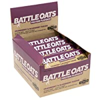 Battle Oats High Protein Gluten Free Flapjacks, 12 x 70g Protein Bar - Cranberry and Blueberry Fusion