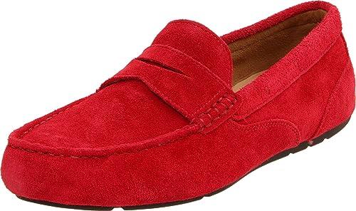 Rockport Greenbrook - Mocasines, color Red Suede, talla 49: Amazon.es: Zapatos y complementos