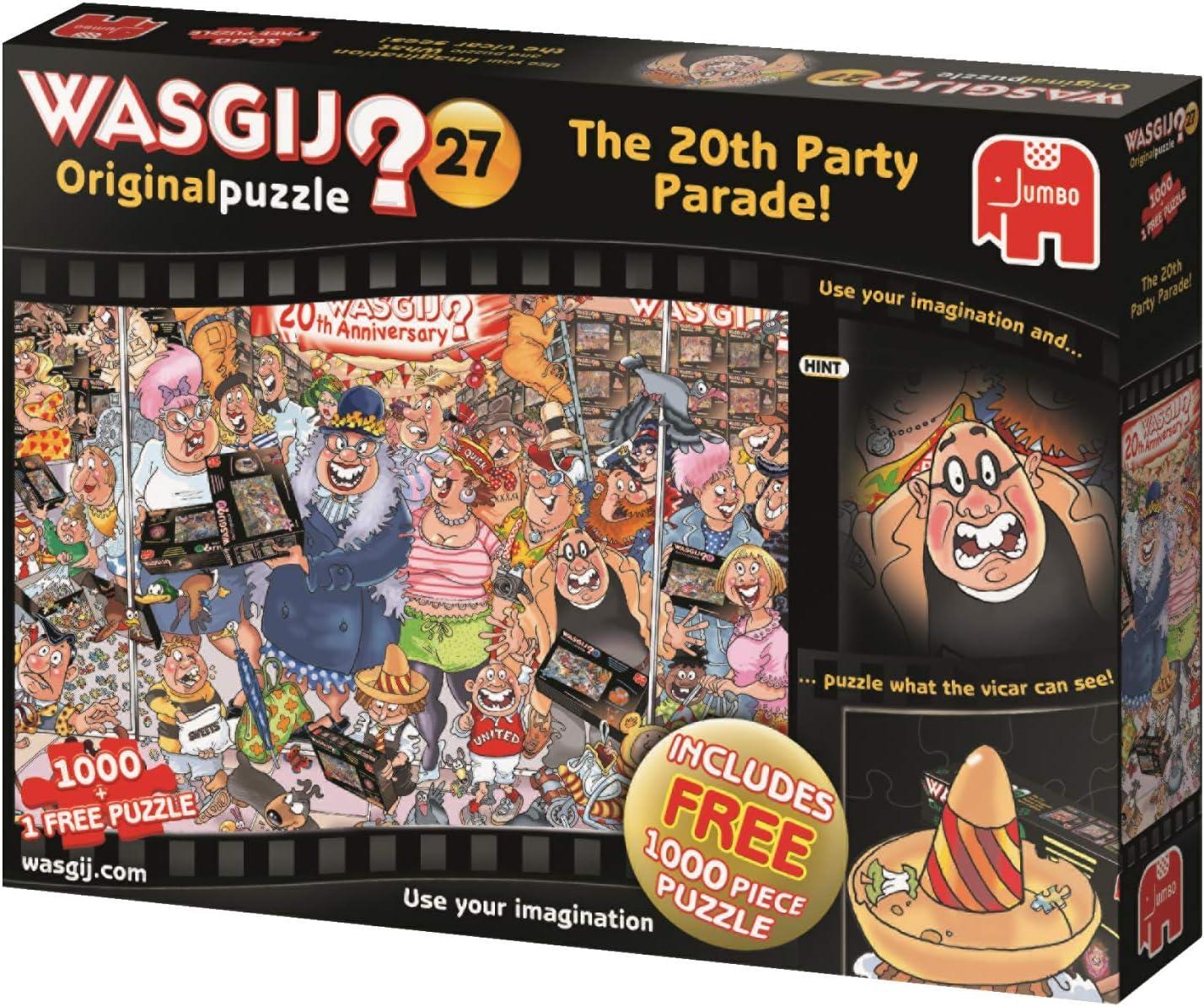 Jumbo Wasgij Original 27: The 20th Party Parade! 2 x 1000 pcs Puzzle - Rompecabezas (Puzzle Rompecabezas, Arte, Adultos, Wasgij, Hombre/Mujer, 12 año(s)): Jumbo: Amazon.es: Juguetes y juegos