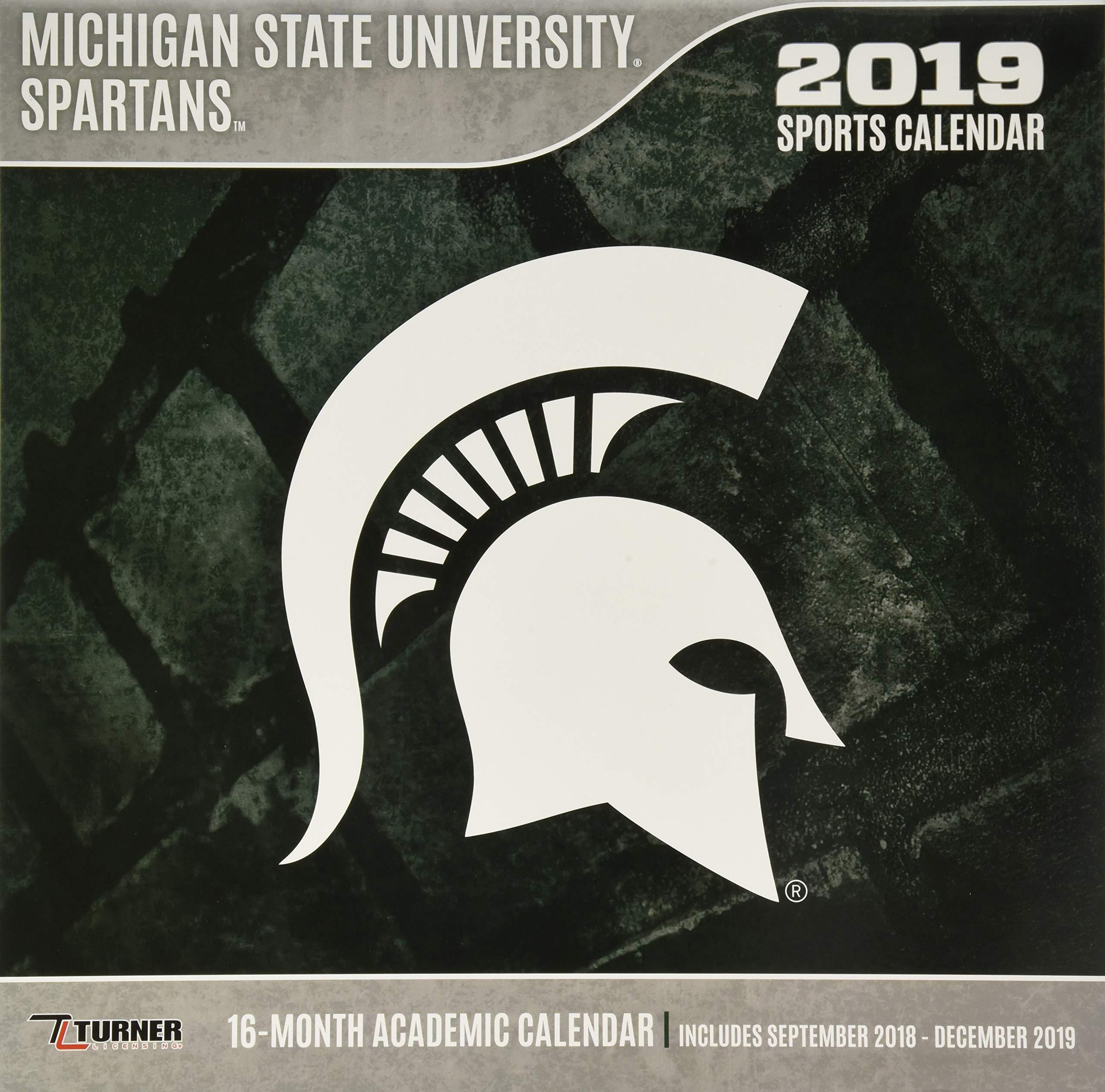 Michigan State Academic Calendar 2019 Michigan State Spartans 2019 calendario: Lang Holdings Inc