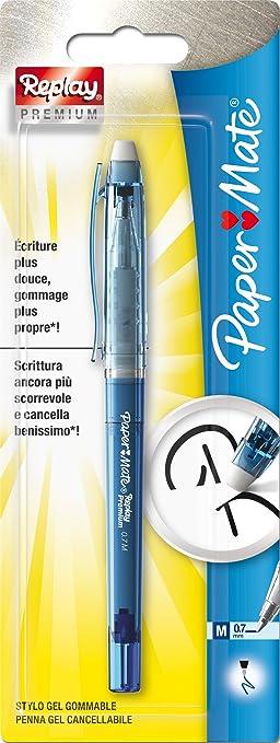 76 opinioni per Paper Mate Replay Premium Penna Gel Cancellabile, Punta Media da 0,7 mm, Blu