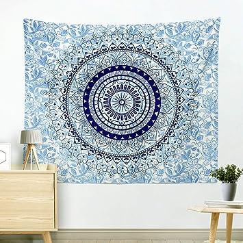 Zfggd Tapicería Mandala Tapiz Colgante de Pared Indio Hippie Print Toalla de Playa Ropa de Cama