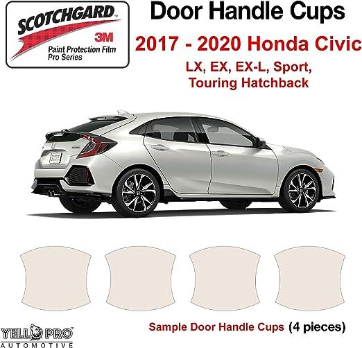 Set of 4 AutofitPro Custom Fit Automotive Self Healing Door Handle Door Cup Clear Paint Protection Film for 2017 2018 2019 Honda CRV CR-V