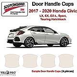 Custom Fit Automotive Self Healing Door Handle Door Cup Clear Paint Protection Film for 2018 2019 Infiniti Q60S Set of 2