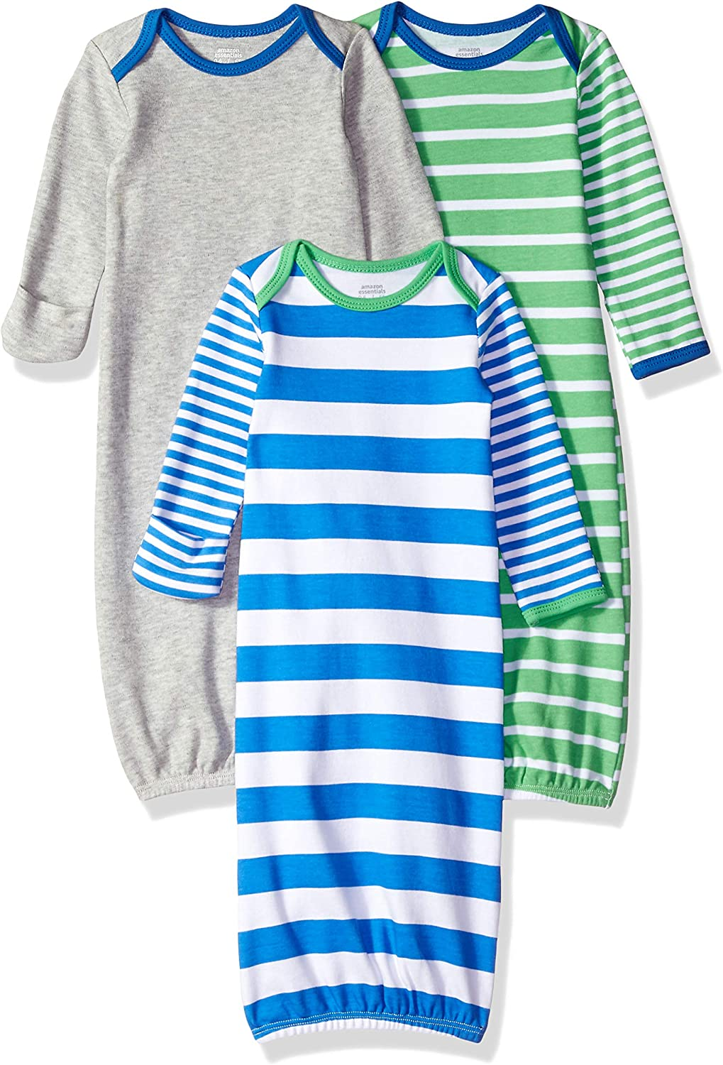 Amazon Essentials - Pack de 3 sacos de dormir de bebé para niño