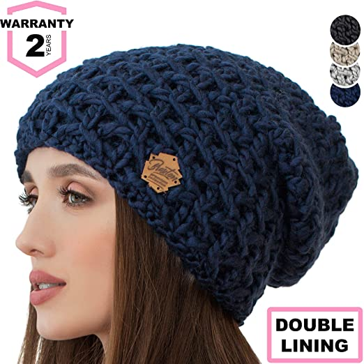 Image Unavailable. Image not available for. Color  Braxton Slouchy Beanie  for Women - Ski Cable Knit Winter Warm Large Hat ... 03519f469923
