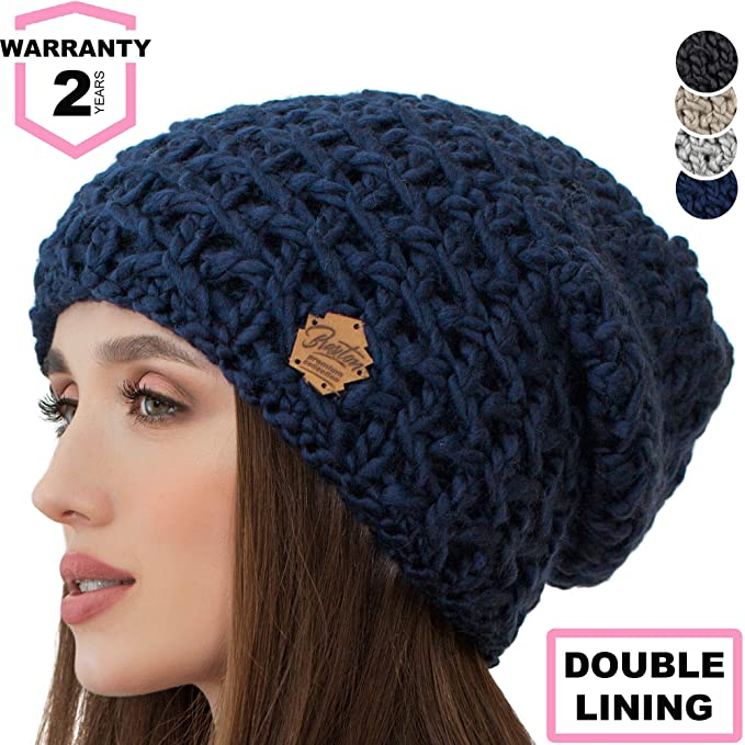 848849c661b15 Image Unavailable. Image not available for. Color  Braxton Slouchy Beanie  for Women - Ski Cable Knit Winter Warm Large Hat - Wool Snow