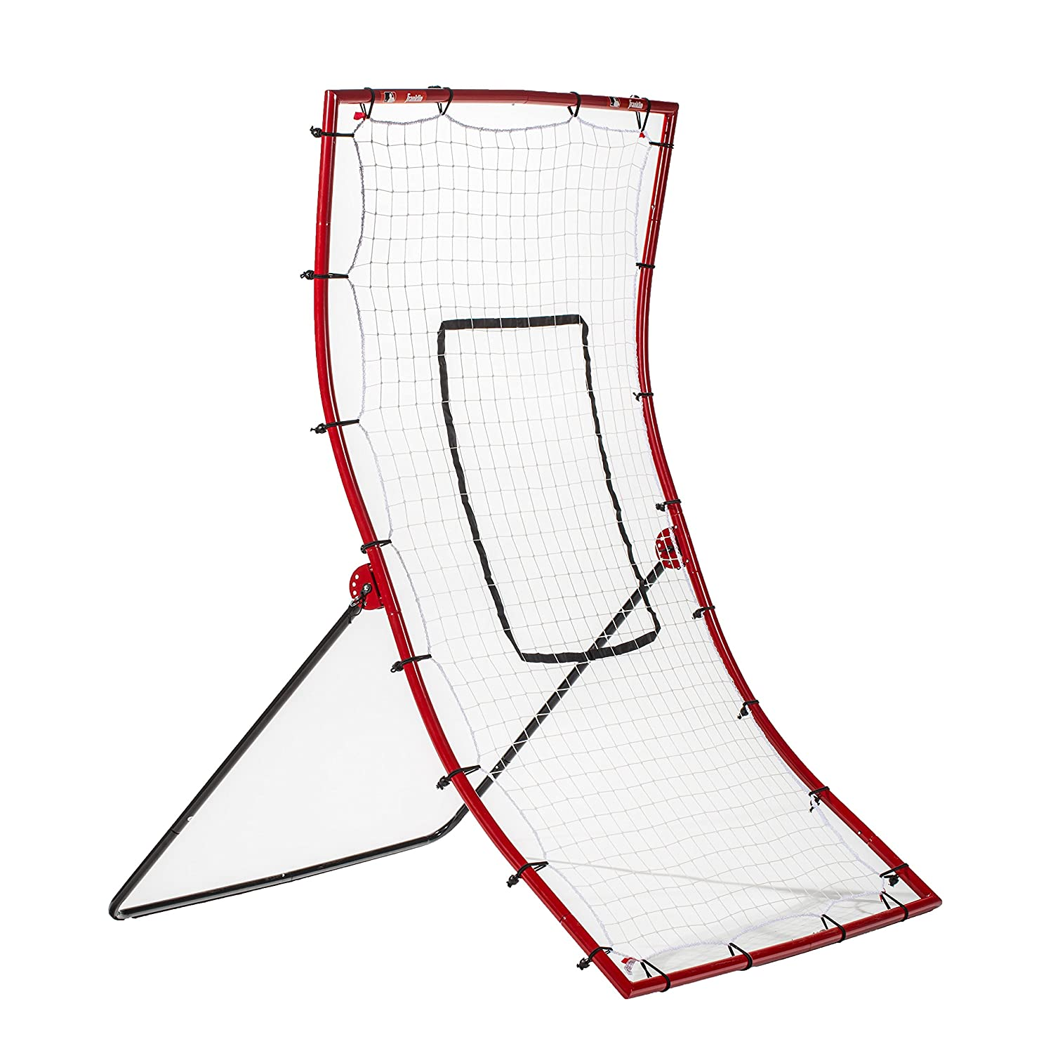 Franklin Sports MLB Multi-Position Return Trainer \u2014 Flyback and Pitchback Baseball for Field Practice Weather-Resistant Pitch Amazon.com : Back
