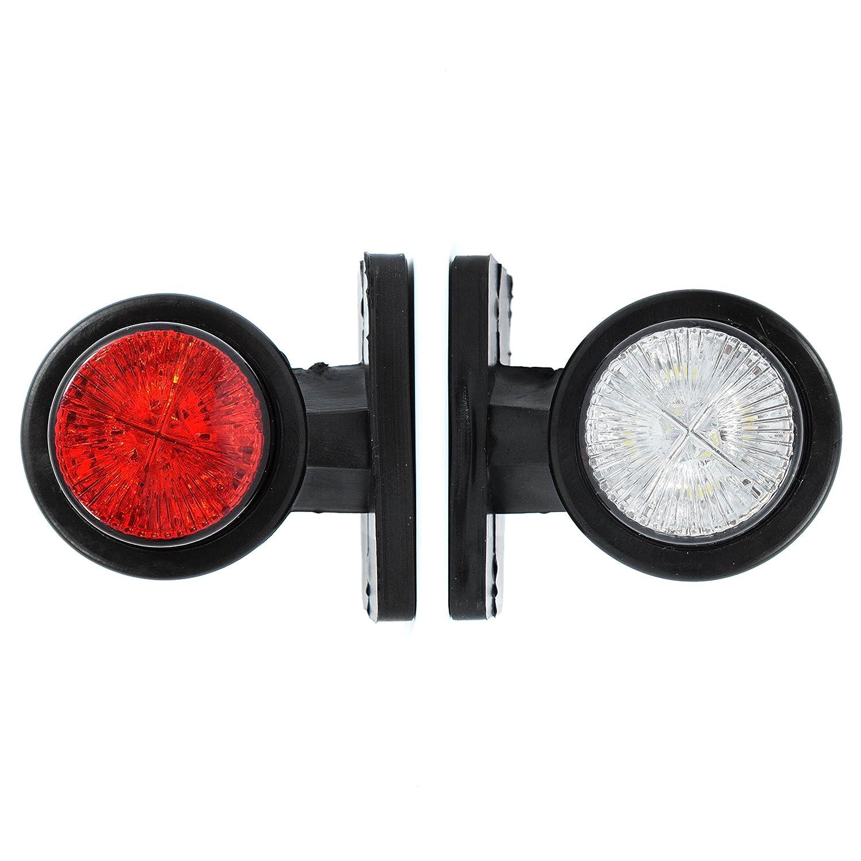 2 x LED 12V 24V Begrenzungsleuchten Seitenmarkierung Gummi Licht Lampe Anhä nger LKW No name