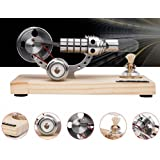 Sunnytech Hot Air Stirling Engine Colourful LED Single Flywheel Education Toy Electricity Power Generator M14-03-S