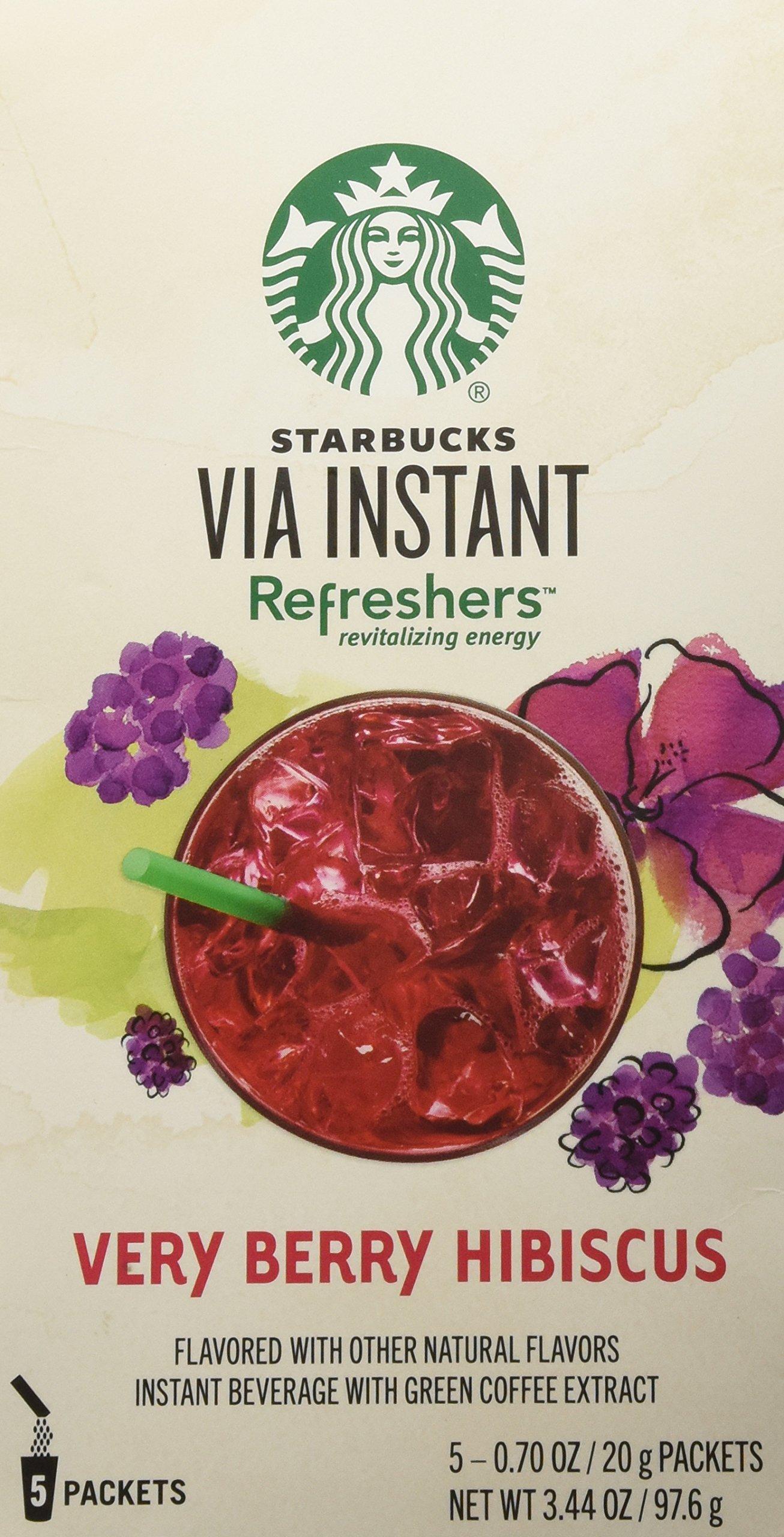 Starbucks Via Refreshers Very Berry Hibiscus 3 Packboxes 15
