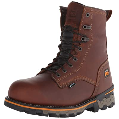 """Timberland PRO Men's 8"""" Boondock Soft-Toe Waterproof Work and Hunt Boot: Shoes"""