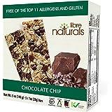 Libre Naturals Chocolate Chip Chewy Granola Bars - Vegan, Gluten-Free, Kosher, Nut-Free, Non-GMO, Dairy-Free, No…