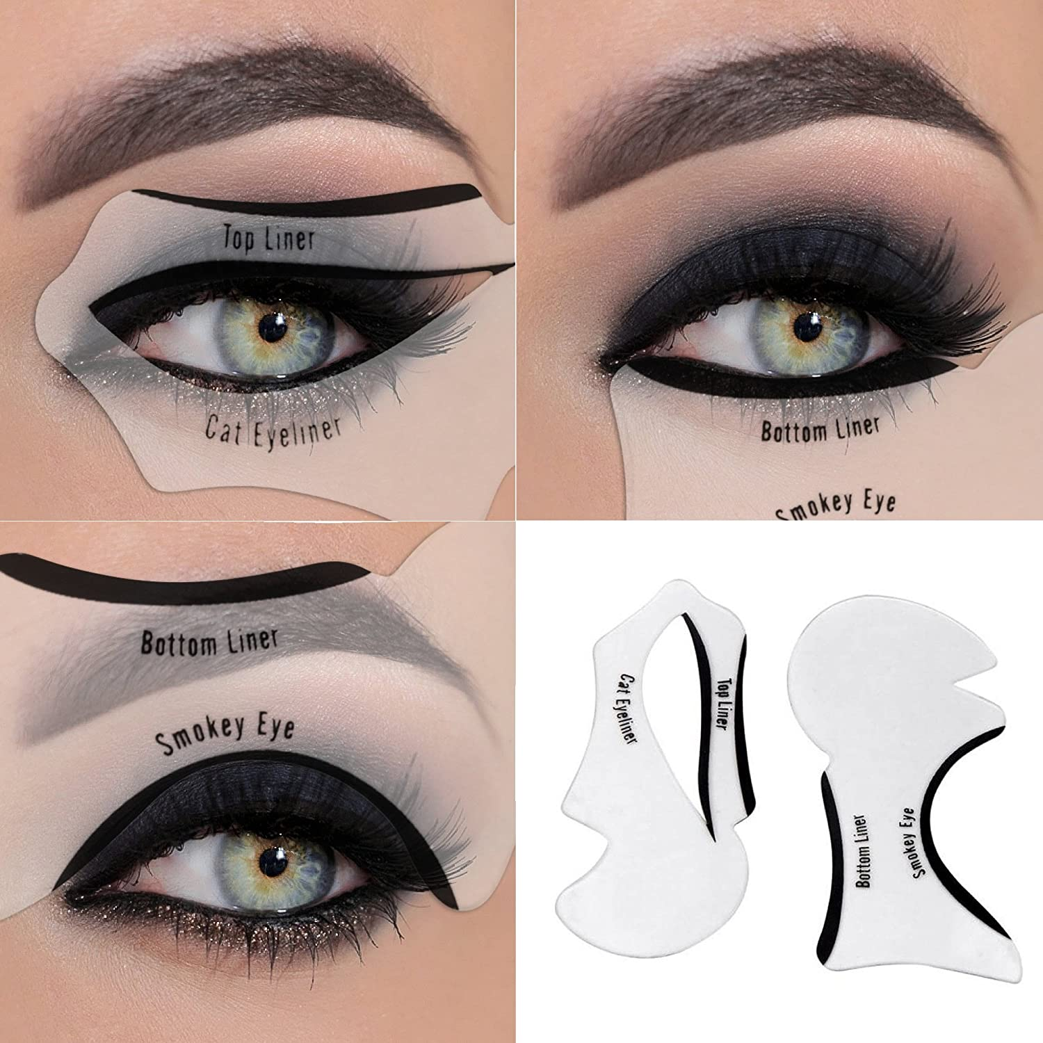 Eyeliner Stencil - Eyeshadow Guide, Smokey Cat, Quick Eye Makeup Tool Set: Amazon.co.uk: Beauty