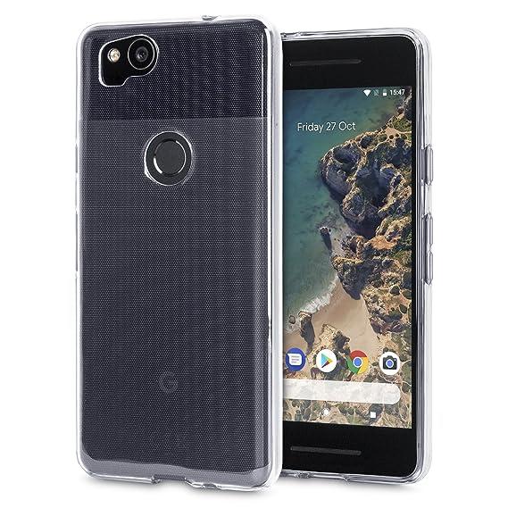 hot sale online 3b22f 3d8df Olixar Google Pixel 2 Clear Case - Slim Soft Gel Cover - Ultra Thin 100%  Clear - Flexible Transparent Case