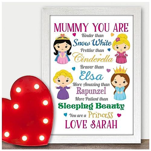 Personalised Birthday Gifts Presents Mum Mummy Disney Princess Keepsake Nanny