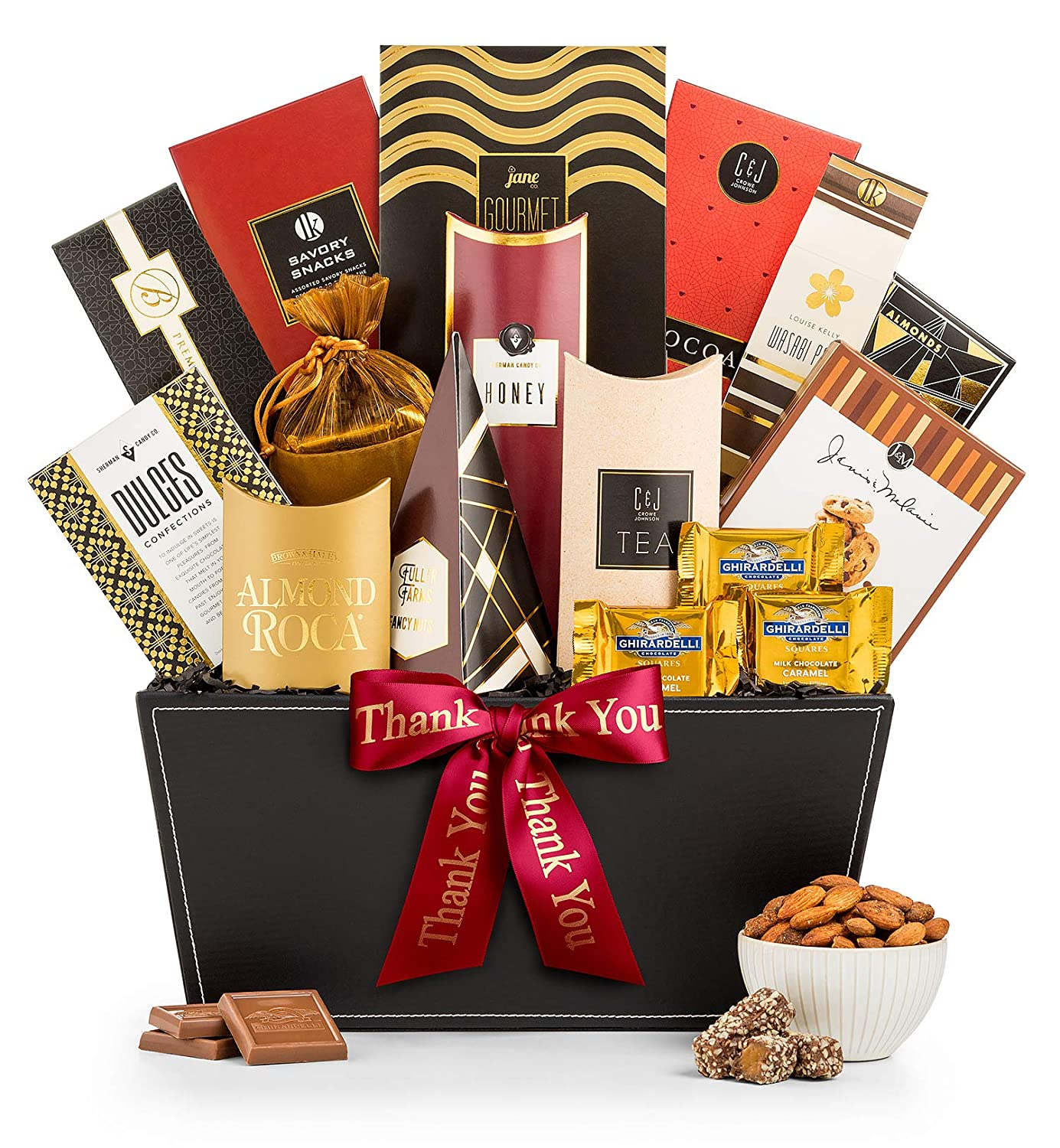 GiftTree Broadway Gourmet Thank You Gift Basket | GiftTree Broadway Gourmet Gift Basket | Almond Roca, Seasoned Nuts and Candies, Popcorn & More | Perfect Way to Show Your Appreciation