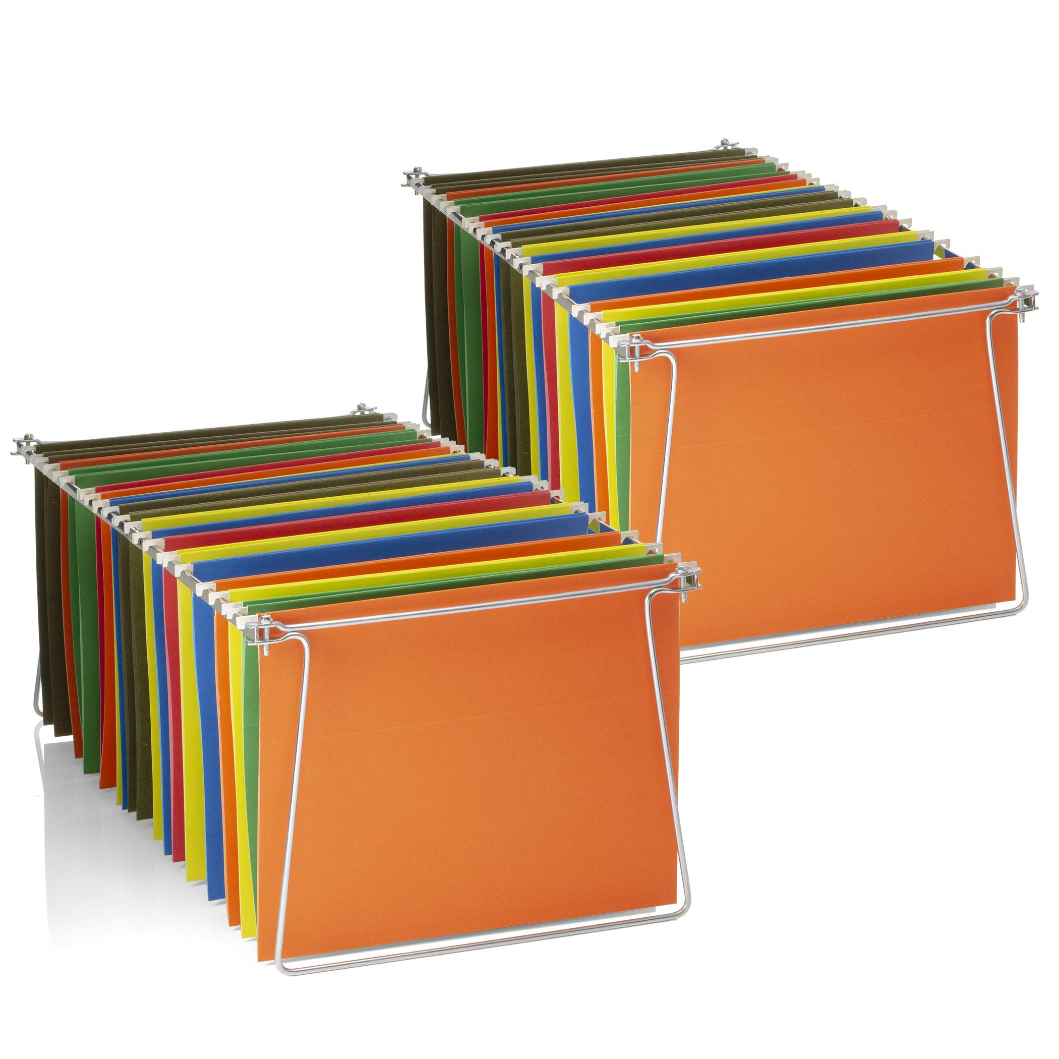 Officemate Hanging File Frames, Letter Size, Rails fits 24'' to 27'', Steel, 2 Sets (91999)
