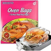 ECOOPTS - Bolsas de horno tamaño grande, para asar pavo, pollo, carne, jamón, pescado, verduras, etc. 10 bolsas (55 x 60…