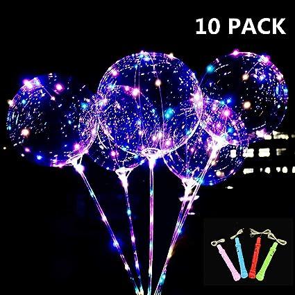 Luminous Transparent BoBo LED Light Balloons Colorful Flashing Lamps Party Decor
