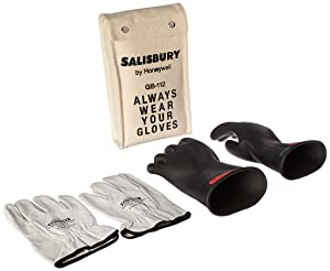 "Salisbury 8643517 by Honeywell GK011B10 Insulated Glove Kit, Class 0, Black, 11""L, Size 10; One Pair"