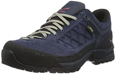 Salewa Unisex-Erwachsene Trektail Gore-Tex Halbschuh Trekking-& Wanderhalbschuhe, Blau (Dark Denim/Mineral Red 0356), 35 EU