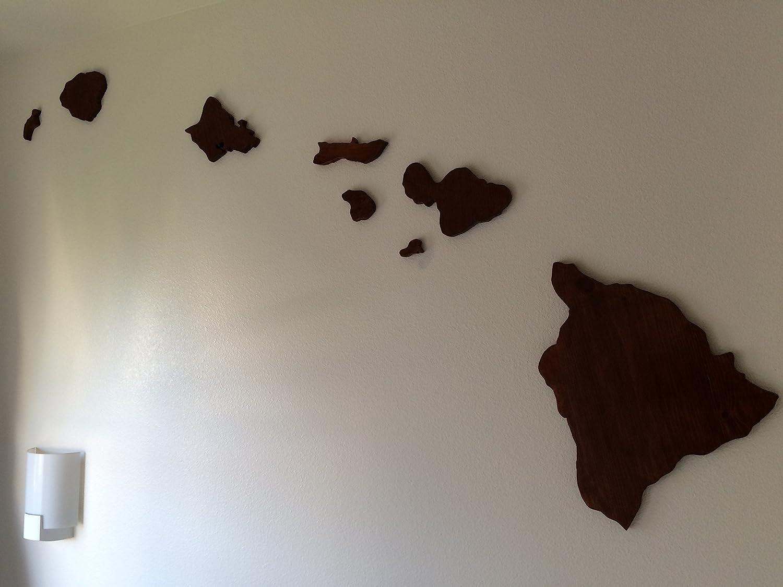 Amazon.com: Wooden Hawaiian Island Chain Wall Art: Handmade