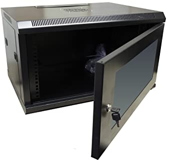 Black 450mm 6U Data Rack Network Wall Cabinet LAN: Amazon.co.uk ...
