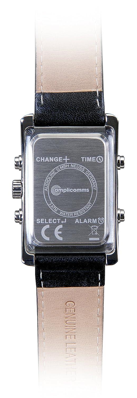 Vibrations-Armbanduhr fÜr Herren amplicomms AW 500 G