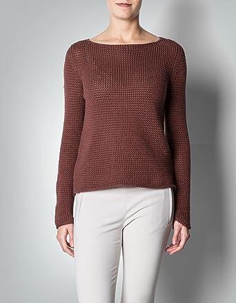 Marc O'Polo Damen Pullover Baum Wolle Sweater Unifarben