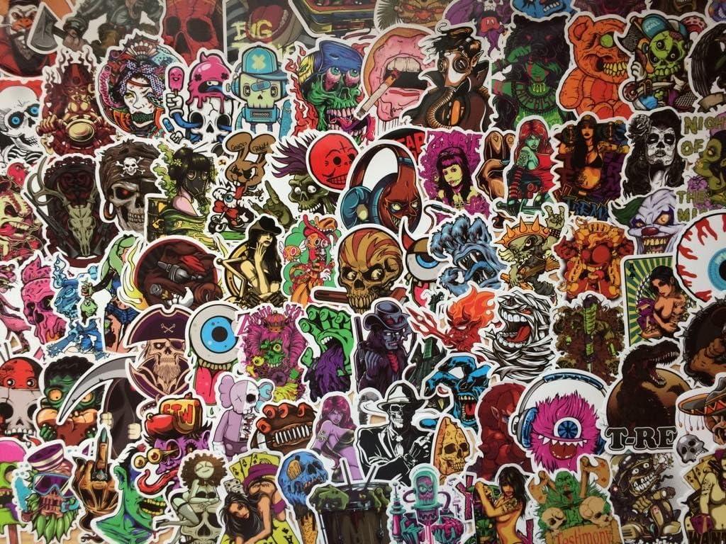 Lote de pegatinas 20/50/100 Oscuro, Punk, Rock, Esqueleto, Terror ...