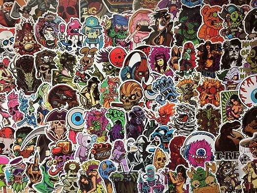 SQUELETTES Lot autocollants stickers thème HORREUR PEUR