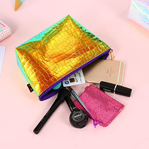 Amazon.com: Bolsa de maquillaje – gran capacidad portátil ...