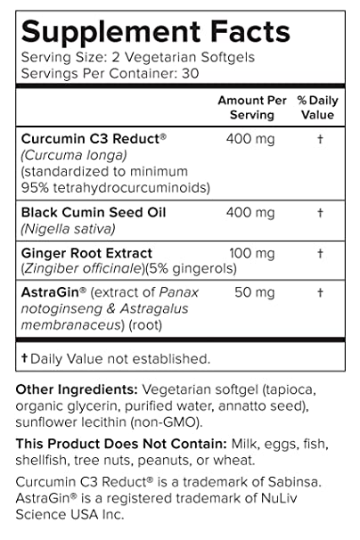 Smarter Turmeric Curcumin - Potency and Absorption in a SoftGel | The Most  Active Form of