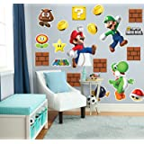 Super Mario Bros Room Decor - Giant Wall Decals Combo Kit