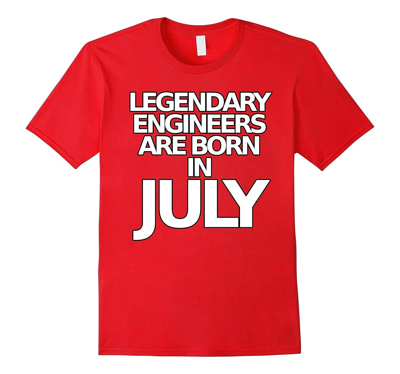 Funny Engineer T Shirts Legendary Engineers July Bday Tee-Art