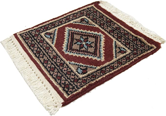 30x30 CM Mat Square Small Genuine Original Hand knotted Carpets tapis teppich