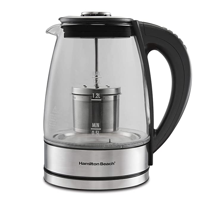 Hamilton Beach 40942 Variable Temperature Electric Kettle 1.7L Stainless Steel